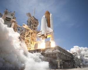 STS-132 launches. Courtesy NASA.