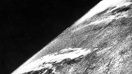 The first photo from space was taken on October 24, 1946 atop a V2 rocket