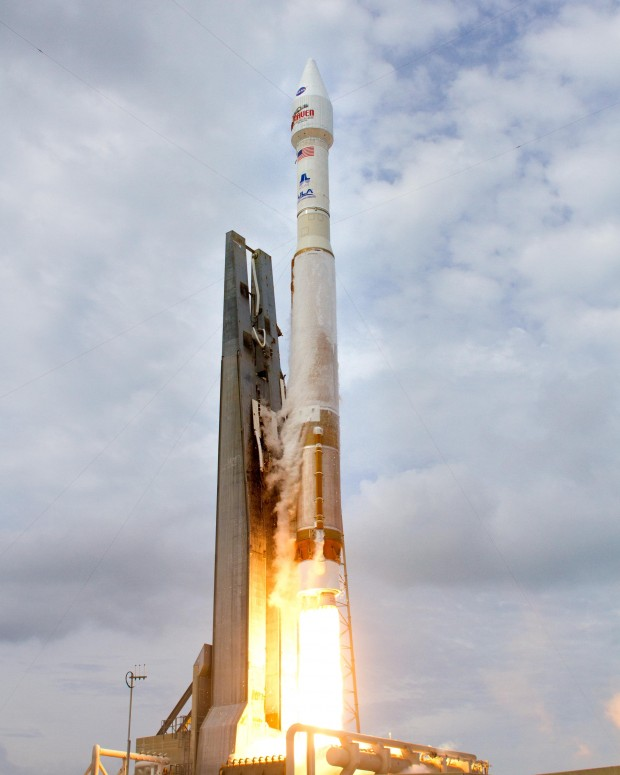 MAVEN launched atop an Atlas V rocket (courtesy NASA/United Launch Alliance)
