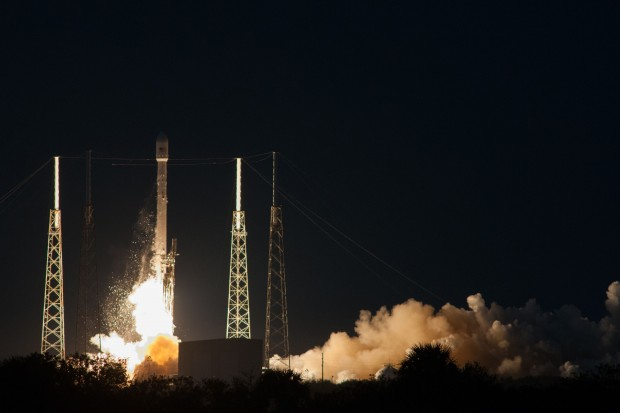 The SpaceX Falcon 9 carries the SES-8 satellite into geo-synchronous orbit