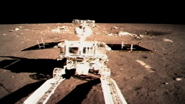 Yutu on the surface of the Moon