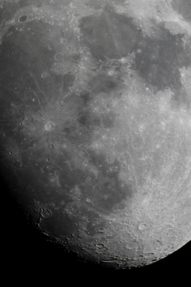 A photo of the Moon from Toronto in April 2013