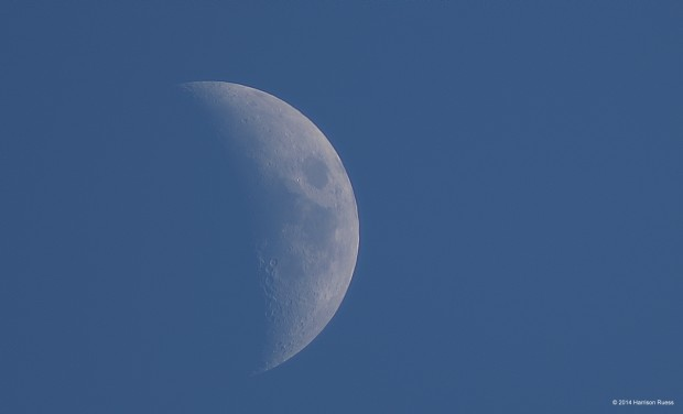 The Moon, as seen in mid-afternoon from Toronto, Canada on April 5, 2014