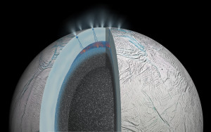 Hydrothermal activity on Enceladus (NASA/JPL-Caltech)